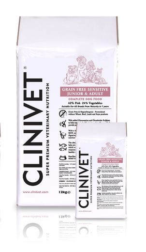Clinivet Grain Free Junior & Adult Sensitive Fish – Viljaton koiranruoka